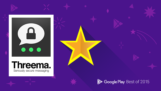 Threema selected by Google for best Android apps of 2015