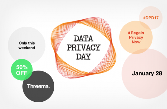 Data Privacy Day – Threema 50% off