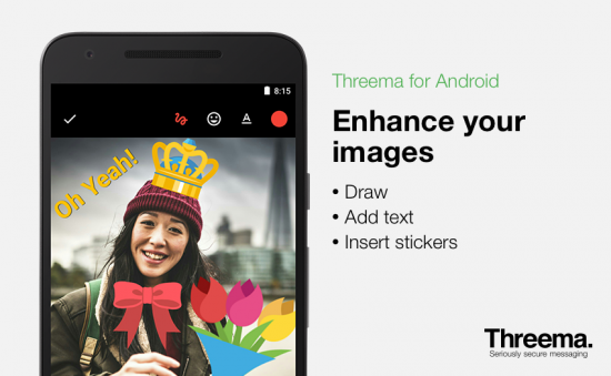 Get creative with Threema for Android's new image editor