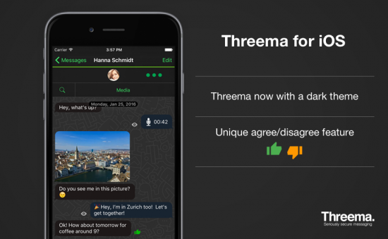 Dark theme and agree/disagree feature now available on iOS