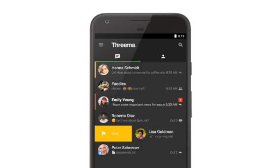 Mark chats — Now  in Threema for Android