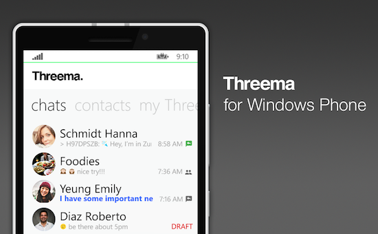 Threema for Windows Phone gets a host of new features